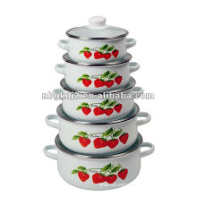 porcelain casserole set 673DG with glass lid