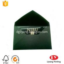 Custom black PVC card with gold printing