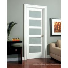 Balanceo de puertas de cristal de madera maciza Puertas interiores Nuevo diseño