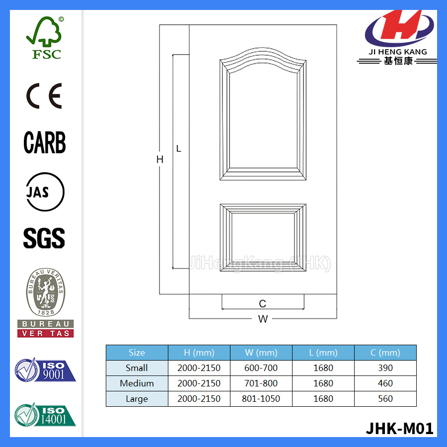 JHK-S02 MF White Primer Good Door Skin