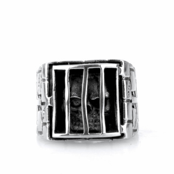 Cross men index finger 316L stainless steel rings