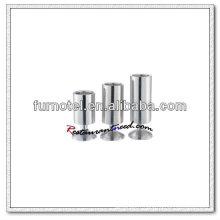 Support rond de bougie d'acier inoxydable de T219 avec la base en forme de trompette