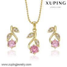 La joyería 2016 de la moda de la fabricación de China Xuping fijó la joyería del oro 14k al por mayor