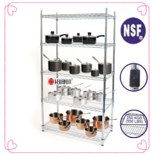 NSF Metal Chrome Restaurant Kitchen Shelving