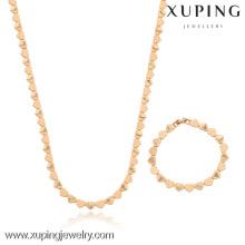 63213-Xuping collier et bracelet belle chaîne de bijoux en forme de coeur pour le mariage