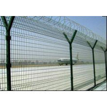 Clôture en acier galvanisée d'aéroport en acier de grillage