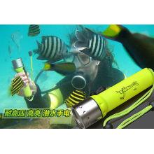 Online-Shop Tauchen Fackel Unterwasser LED Tauchen LED-Taschenlampe 18650 Fackel Lampe Licht