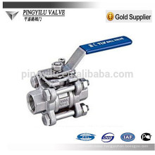 3pc 316 304 ball valves in nitric acid DN6-DN80 JLQ11F-16P china factory