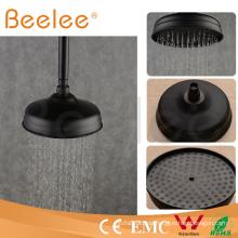 China 8 Zoll-Messingrunder Mattschwarz-Wasserspar-Niederschlag-Badezimmer-Spitzen-Duschkopf