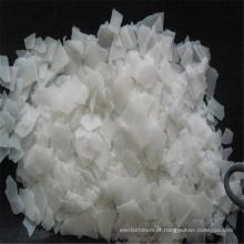 Floco de soda cáustica de floco translúcido branco em saco de 25 kg para detergente sintético