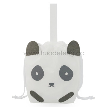 White Non-woven Panda Party Handle Gift Packing Bag