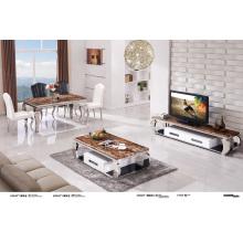 Table basse en marbre et mode en acier inoxydable