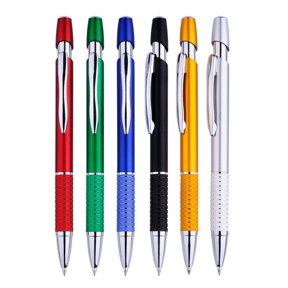 Metallic Plastic Pen with Metal Clip and Aluminum Grip