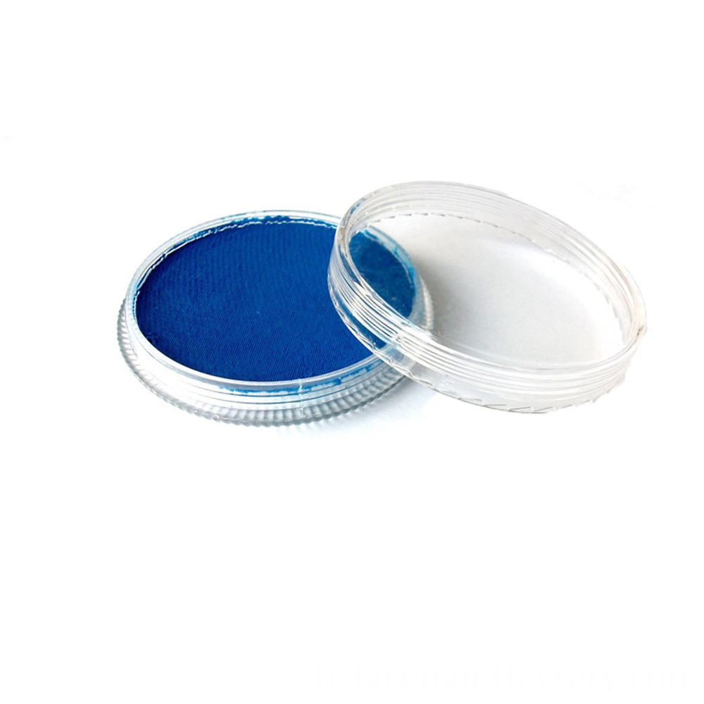 UV face paint Blue