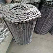 304 Bande transporteuse équilibrée de treillis métallique d'acier inoxydable