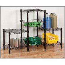 Unidad de estantería de metal cromado para sala de estar (CJ454580B3E)
