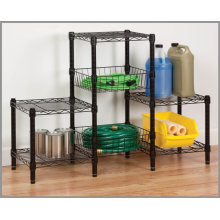 Chrome Metal Wire Shelving Unit for Living Room (CJ454580B3E)