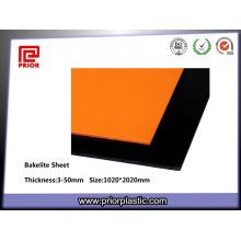Orange Phenolic laminiertes Bakelit-Blatt