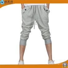Pantalons de sport à la mode en coton à coupe droite pour hommes
