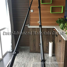 water fed poles/ Brand Cner 15m carbon fiber telescoping mast with carbon fiber gooseneck