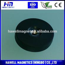 Мощный неодимовый магнит с резиновым покрытием