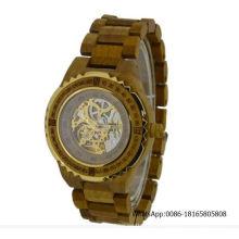 Skeleton Uhr automatische hölzerne Uhr Luxus hölzerne Uhr Fabrik Wholealse Uhren