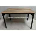 Industrial Metal Riveted Bar Table