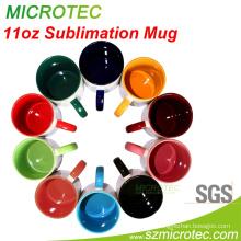 11oz Inner & Handle Color Sublimation Mug, Grade a, SGS&FDA Approved (MT-B002H)