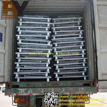 Contenedor plegable de malla de alambre apilable para almacenamiento en almacén