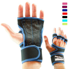New custom high quality leather wrist support fighting fitness crossfit gloves