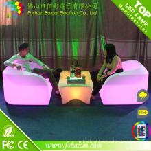 Conjunto de Mobiliário de Bar LED