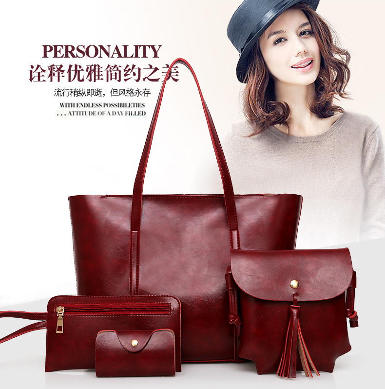 Retro tote fashion blank should brown ladies handbags