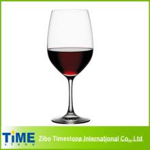 Hoch gereinigtes Rotweinglas, klarer Kristallwein Trinkglas