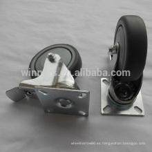 rueda giratoria del echador del tubo del pvc de los muebles