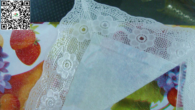 vinyl tablecloth lace edge