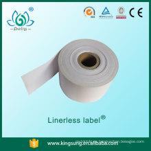 etiqueta sin revestimiento, etiqueta de papel adhesivo