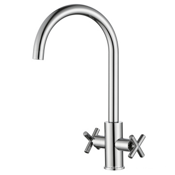 Brass Two Handle Swivel Sink Water Faucet