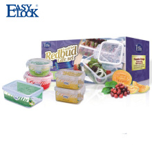 Easylock pequeña caja de almacenamiento de plástico con tapa