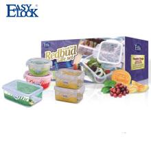 Caixa de armazenamento de plástico pequena Easylock com tampa
