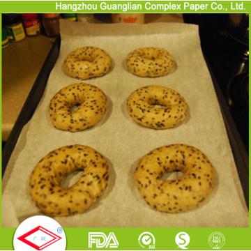 Papier de four enduit par silicone de doubles côtés pour la doublure de plat de cuisson
