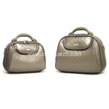 PU Embossed Make Up Bag Set