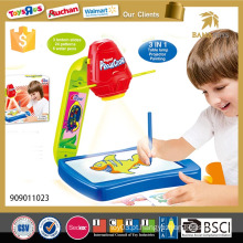 3in1 Crianças educativas pintura brinquedo projetor