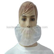 Garde de protection de barbe de polypropylène de protection avec élastique