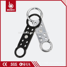BOSHI BD-K61Dual Jaw Aluminum Lockout Hasp, étiquette de verrouillage acceptable OEM