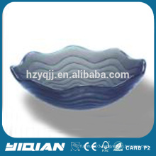 Wave Attractive Design Grey Color Glass Sink