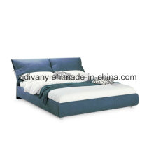 Modern Wood Fabric Soft Bed (A-B25)