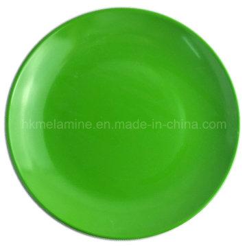 Placa de jantar colorida da melamina 9inch