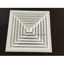 Алюминиевый 4-х ходовой квадратный диффузор для системы отопления, вентиляции и кондиционирования воздуха