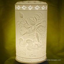 Estilo simple de alto grado de cerámica de alta las cortinas de la lámpara, las cortinas de la lámpara de la porcelana