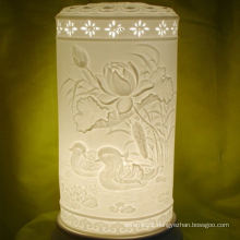 Simple style high-grade ceramic tall lamp shades ,porcelain lamp shades